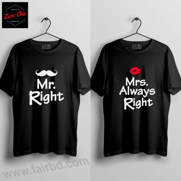 T-Shirt Offer Price Taka 498 only for Pair (Mr and Mrs)